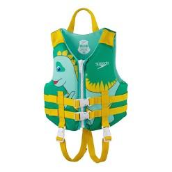 Speedo CB Child PFD Boys' Life Jacket Vest - Green Dino
