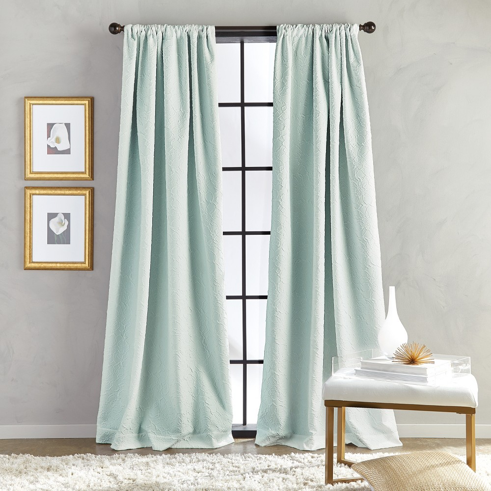 Image of 108 Bloomsbury Poletop Lined Curtain Panel Seafoam