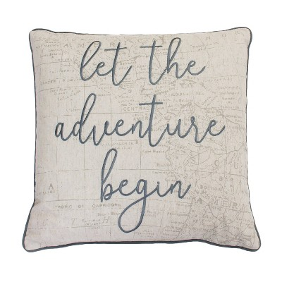 Lariss Adventure Oversize Square Throw Pillow Gray - Décor Therapy
