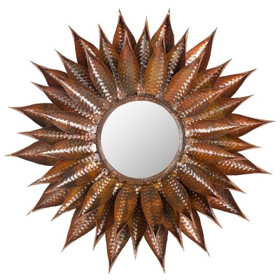 Sunflower Decorative Wall Mirror Brown - Safavieh