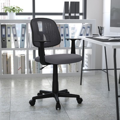 Emma and Oliver Mid-Back Mesh Swivel Task Office Chair with Pivot Back, BIFMA Certified