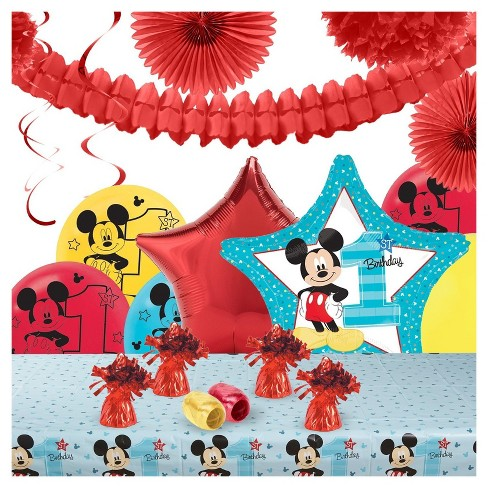 Disney Mickey Mouse Friends 1st Birthday Party Decoration Kit Target