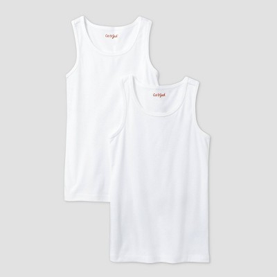 Girls' 2pk Tank Top - Cat & Jack™ White XS