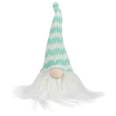 "Northlight 7"" Teal Green and White Striped Spring Gnome Figure"
