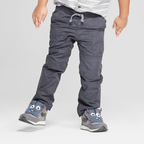 Toddler Boys Cozy Lined Pull On Pants Cat Jack Charcoal Target