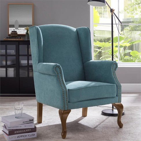 Lorell Wingback Arm Chair - Ocean White - Comfort Pointe  - image 1 of 4