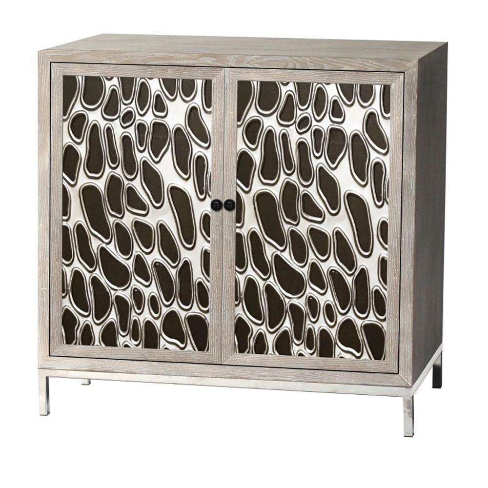 Wooden 2 Door Cabinet Brown - Home Source Industries