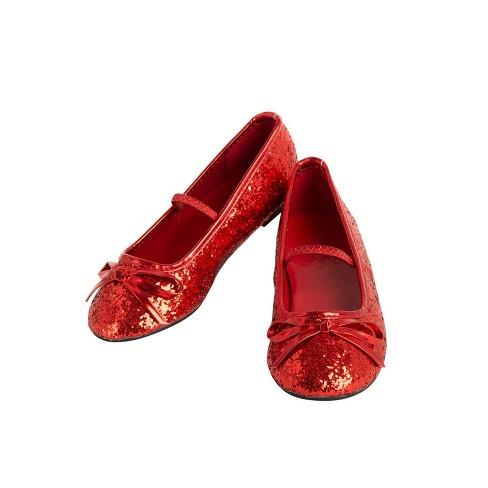 6d2e08db93b Girls  Ballet Costume Shoe - Red   Target