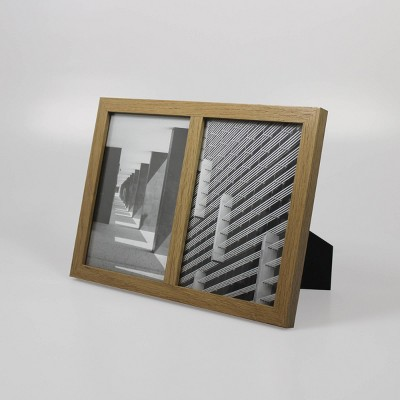 Thin Frame Holds 2 Photos Natural 5 x7  - Made By Design™