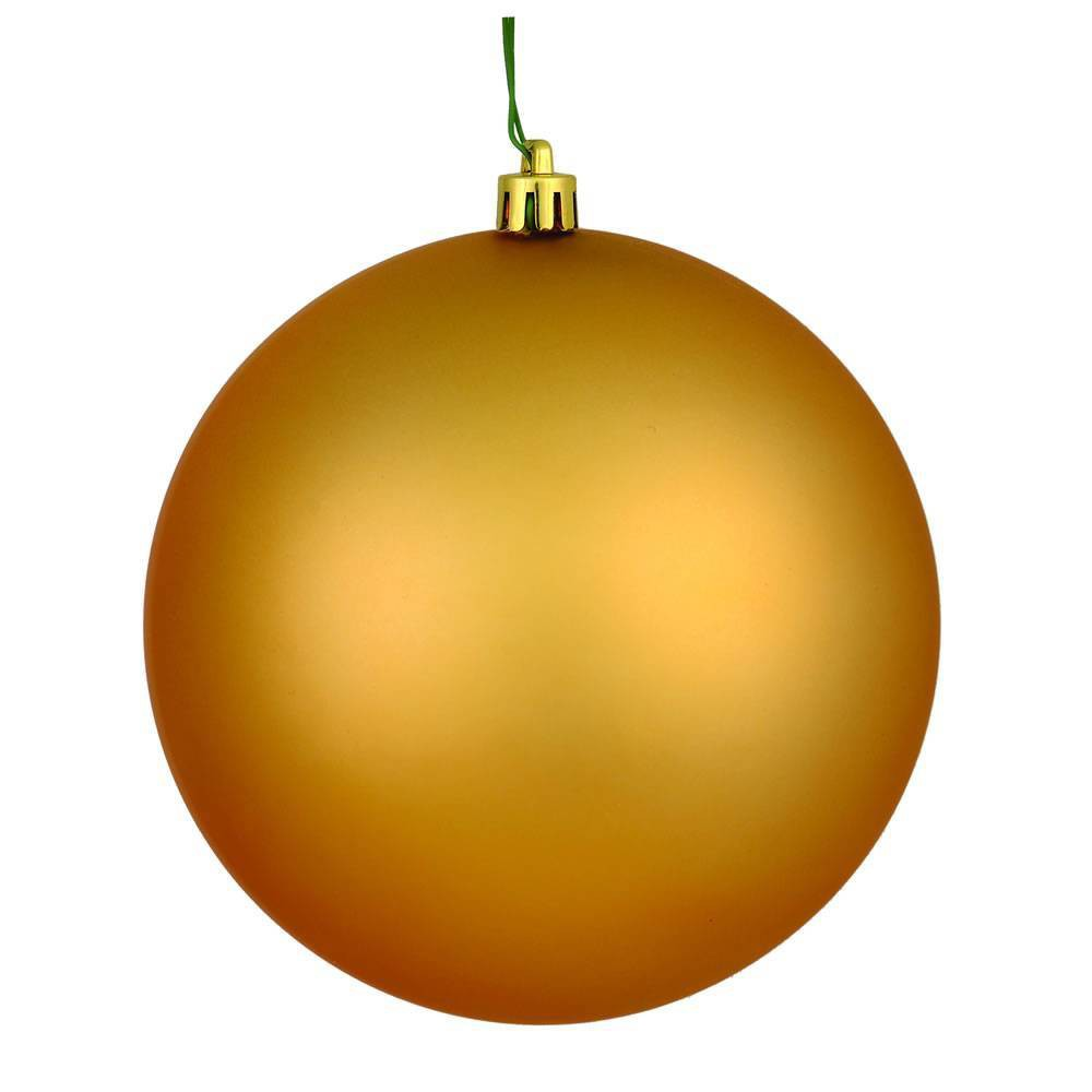 Vickerman 2.4/24ct Matte Ball Ornament UV Coated Copper Gold