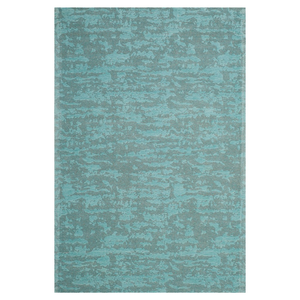 Blue/Turquoise Spacedye Design Woven Area Rug 4'X6' - Safavieh