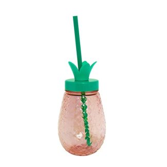 Plastic Pineapple Cup with Screw Top Pink - Spritz™