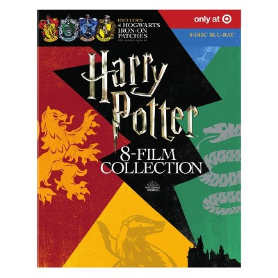 Harry Potter 8-Film Collection with Hogwarts Patches (Blu-Ray)