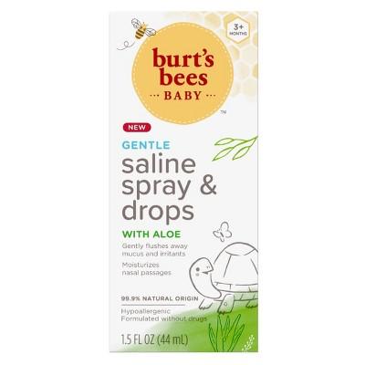 Burt's Bees Baby® Gentle Saline Spray & Drops with Aloe - 1.5oz