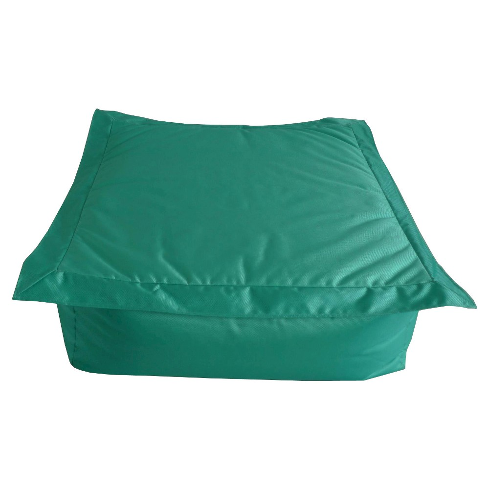 Image of Ace Bayou Outdoor Bean Bag Ottoman - Aqua, Blue