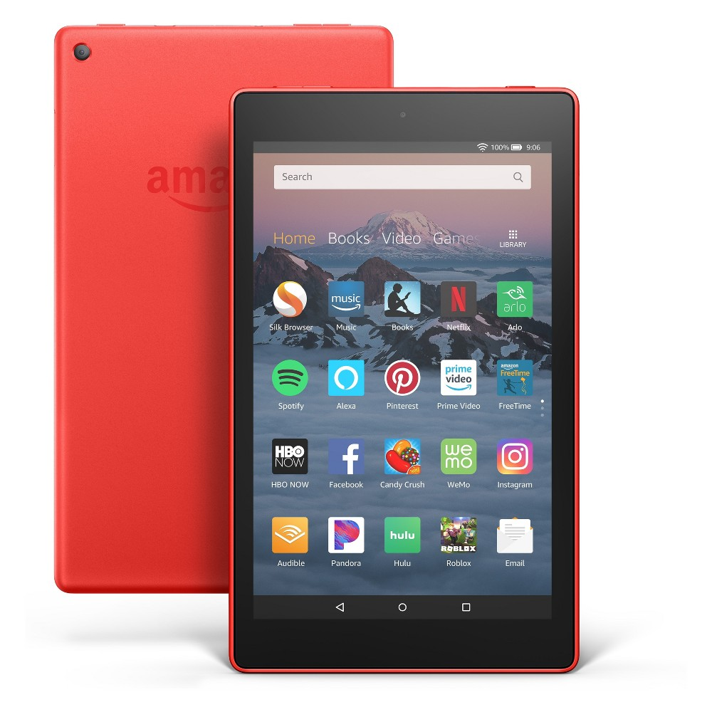 Fire HD 8 Tablet 8 HD Display, 32 GB, Red (with Special Offers)
