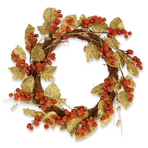 "Leaf Vine Wreath - Berry (24"") - image 1 of 1"