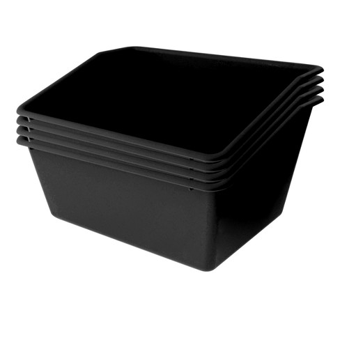4ct Plastic Book Box Black - Bullseye's Playground™ - image 1 of 1