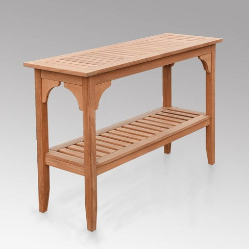 Caterina Teak Patio Buffet and Console Table - Cambridge Casual - image 1 of 4