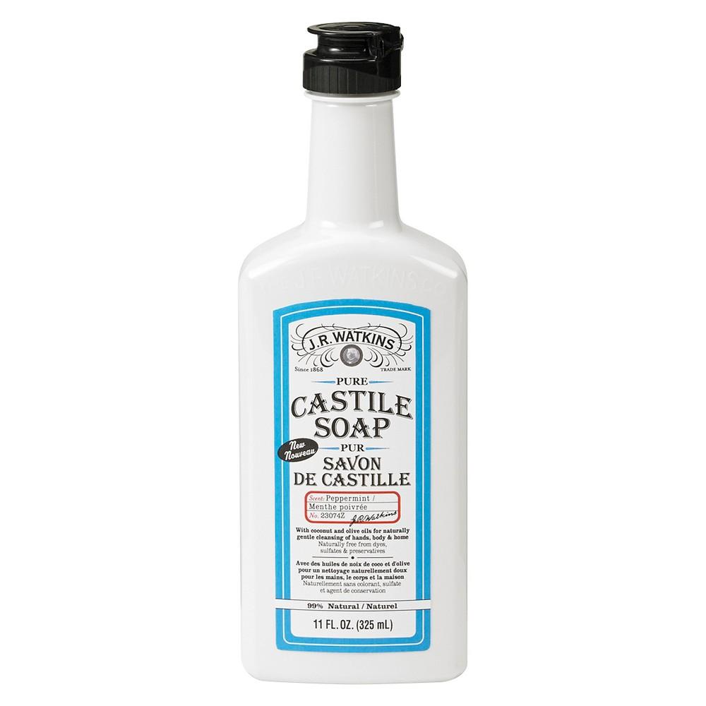 J.R.Watkins Peppermint Castile Soap - 11 oz