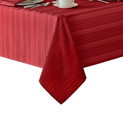 Denley Stripe Jacquard Stain Resistant Tablecloth - Elrene Home Fashions