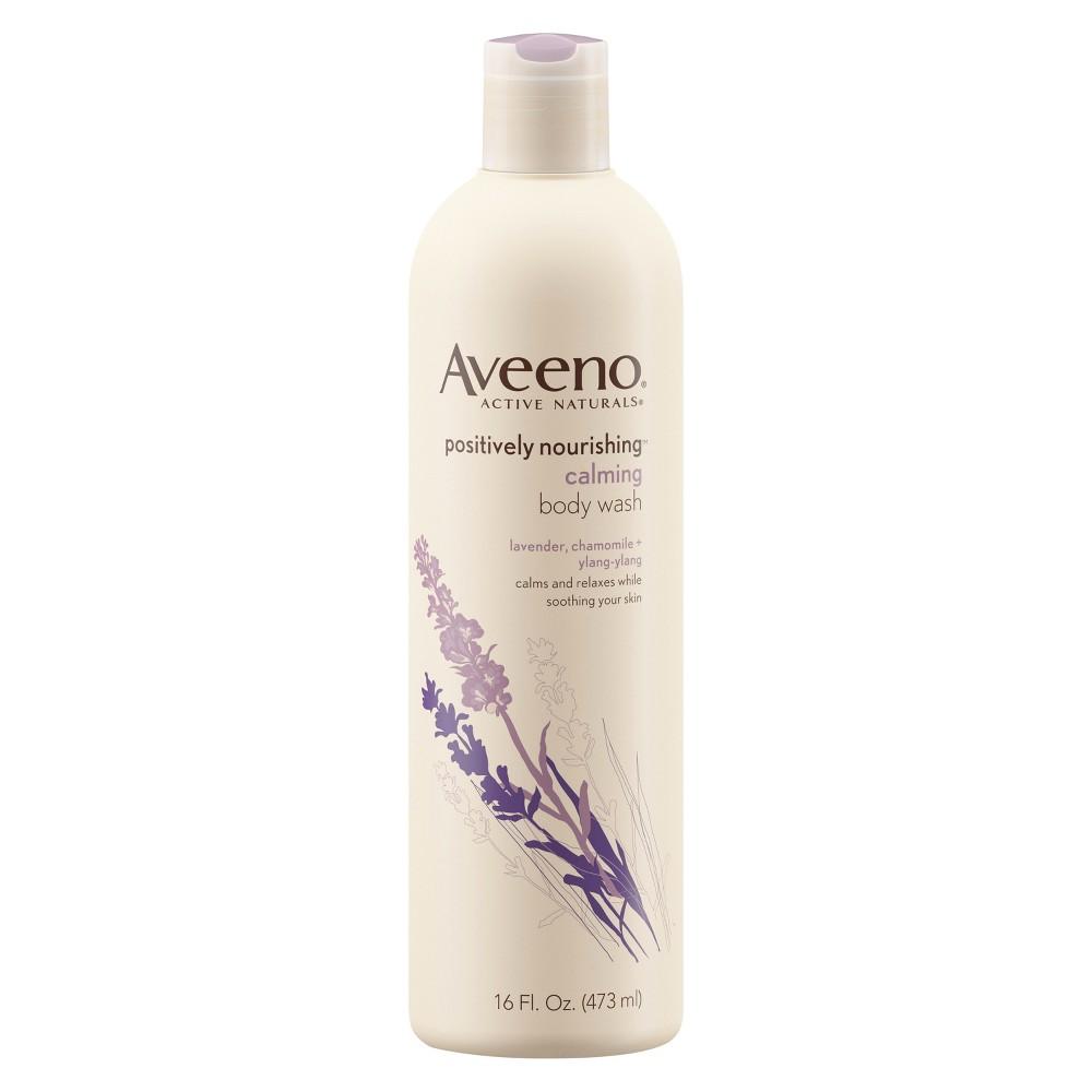 Aveeno Positively Nourishing Calming Lavender Body Wash 16 Fl Oz