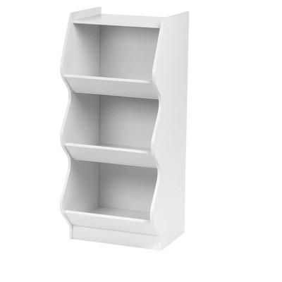 IRIS 3-Tier Curved Edge Storage Shelf - White