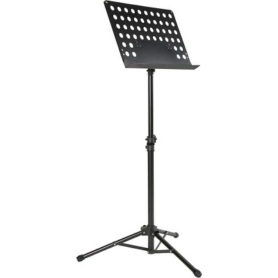 Musician's Gear Perforated Tripod Orchestral Music Stand Black