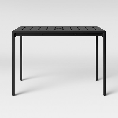 Henning 4-Person Patio Rectangle Dining Table Black - Project 62™