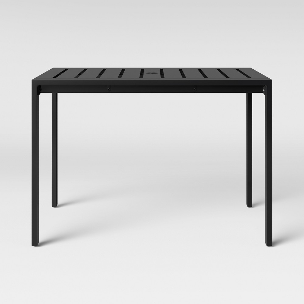 Henning 4-Person Patio Dining Table Black - Project 62