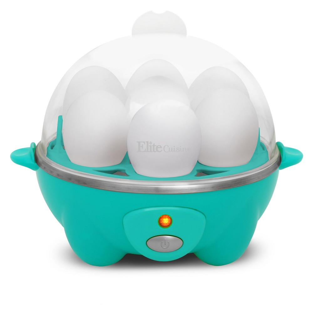 Image of Elite Cuisine Electric Egg Cooker, Blue