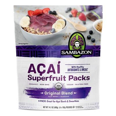 Sambazon Aa Original Blend Superfruit Frozen Smoothie Packs - 400g