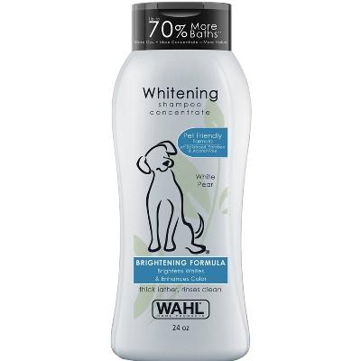 Wahl Pet Shampoo Whitening Brightening Formula White Pear - 24oz