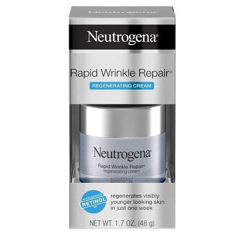 Neutrogena Rapid Wrinkle Repair Hyaluronic Acid & Retinol Cream - 1.7oz - image 1 of 4