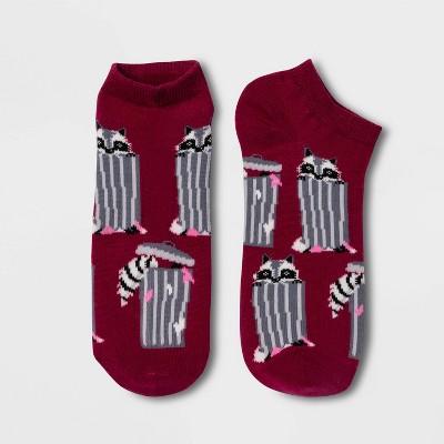 Women's Trash Panda Raccoon Low Cut Socks - Xhilaration™ Purple 4-10