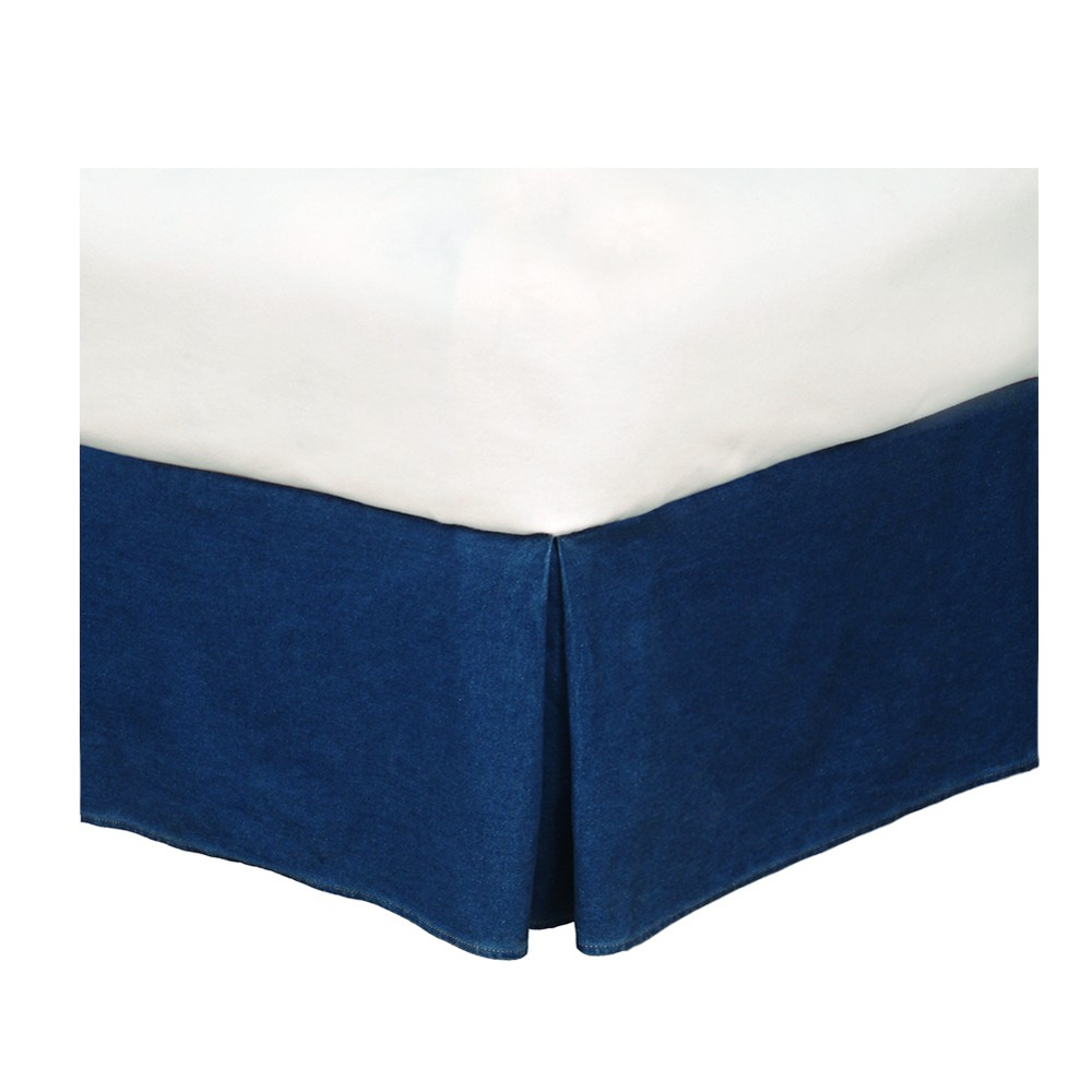 Image of Denim Bed Skirt (California King) - Karin Maki, Blue