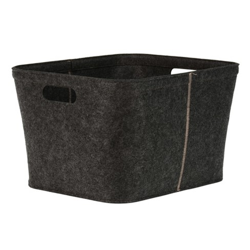 "10.5""x14"" Felt Medium Rectangle Basket with Stitching Dark Gray - Project 62™ - image 1 of 1"