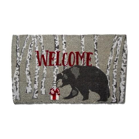 tag Winter Sketch Bear Coir Mat Renewable Coconut Fiber Doormat Christmas Xmas Holiday - image 1 of 4