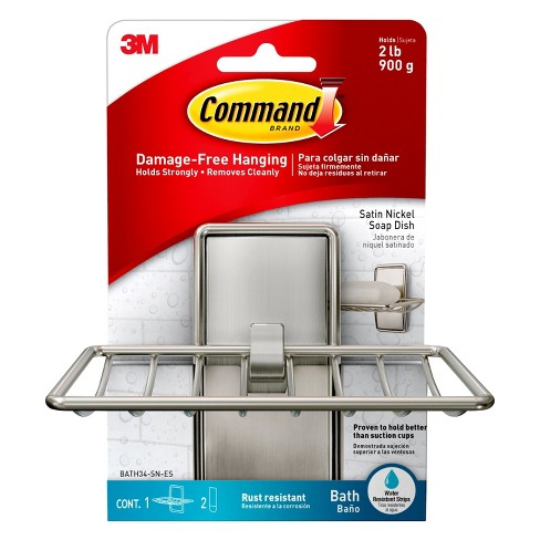 Command Soap Dish Brushed Nickel Paper - image 1 of 4