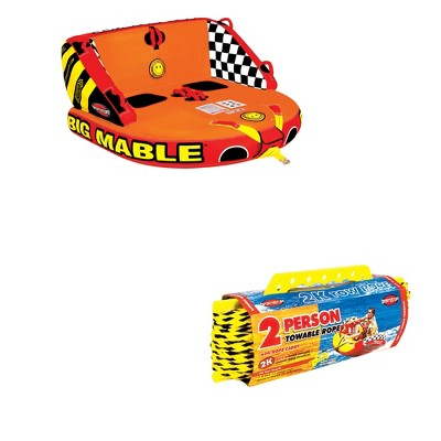 Sportsstuff Big Mable Sitting Double Rider Towable Tube & Tube 60-foot Tow Rope