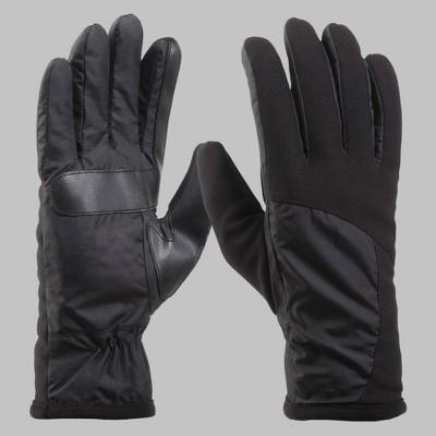 Isotoner Men's Tech Stretch Gloves - Black