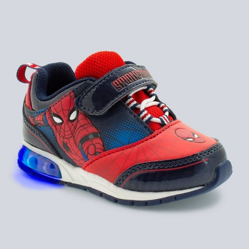 Toddler Boys' Marvel Spider-Man Lighted-Up Sneakers - Red - image 1 of 3