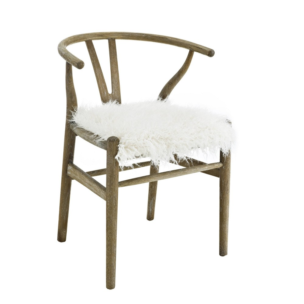 Ellis Wishbone Chair White - Linon, Gray Ellis Wishbone Chair White - Linon Color: Gray. Gender: Unisex.
