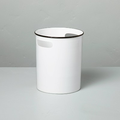 Metal Bath Wastebasket White/Black - Hearth & Hand™ with Magnolia