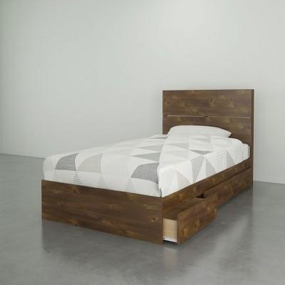 Soho Platform Bed and Headboard Truffle - Nexera