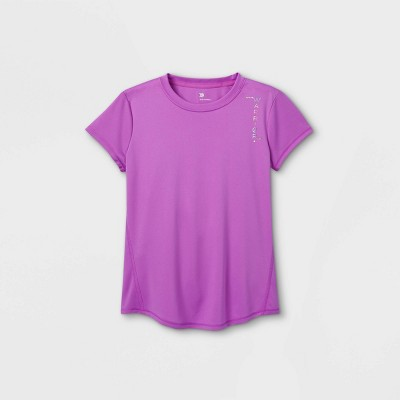 Girls' Short Sleeve 'Warrior' Graphic T-Shirt - All in Motion™ Violet