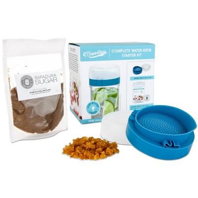 Masontops Water Kefir Starter Kit for Mason Jars - Wide