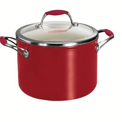 Tramontina Ceramica 6 qt. Covered Sauce/Stock Pot - Red