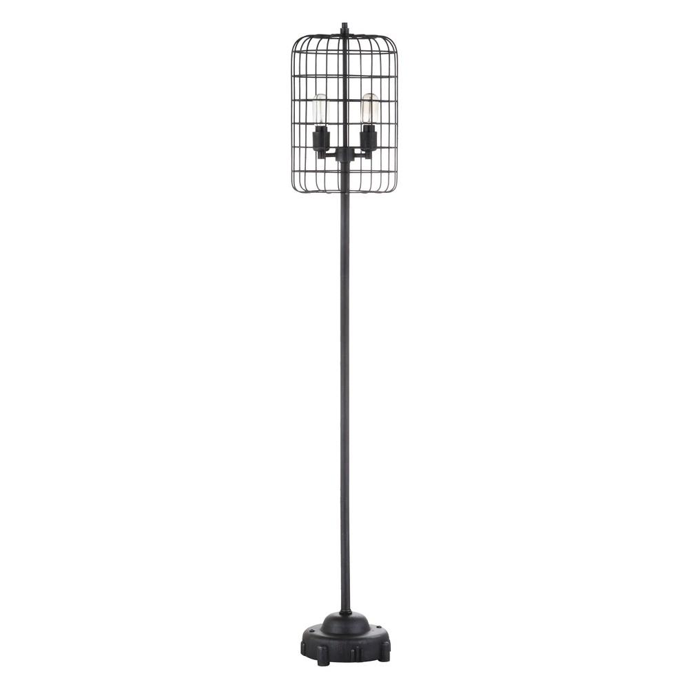 65 Odette Industrial Metal Floor Lamp Black - Jonathan Y