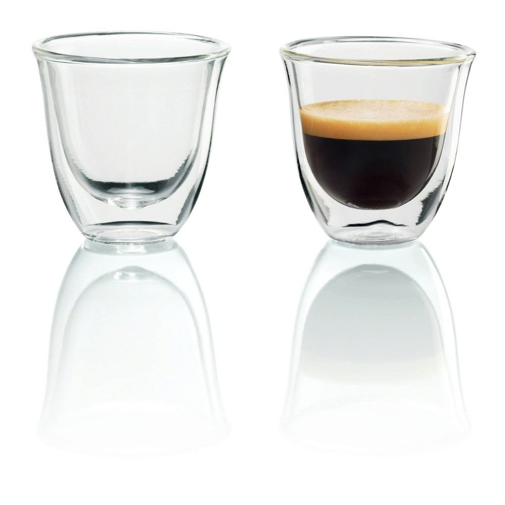 Image of Delonghi Espresso Cups 2pk, Clear